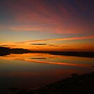 crimson sky by geophotographic