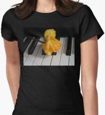 Golden Rose on Piano Keyboard T-Shirt