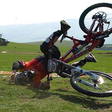 Mountain bike crash by turniptowers