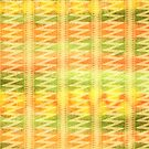 Hand-Painted Watercolor Stripes Pomo Zigzag Tribal by Beverly Claire Kaiya