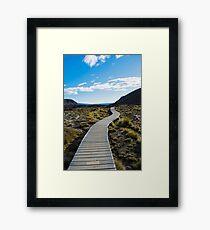 Boardwalk in Tongariro National Park (1) Framed Print