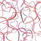 Women's Graphic T-Shirt Dress Heart Art by Gotcha29
