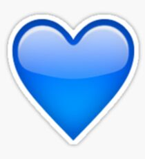 Blue Heart Emoji Sticker