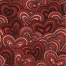 Women's Graphic T-Shirt Dress Merging Hearts by Gotcha29