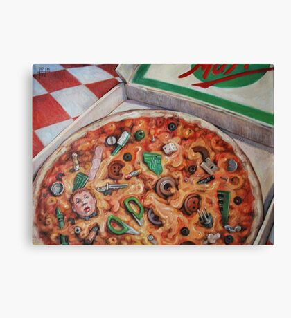 Junk Food (Pizza) Canvas Print