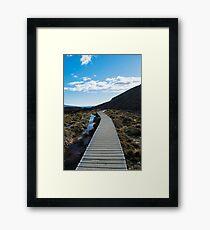 Boardwalk in Tongariro National Park (5) Framed Print