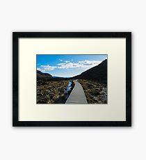 Boardwalk in Tongariro National Park (6) Framed Print