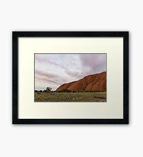 Solid Rock Framed Print