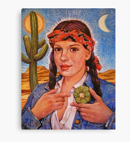 Peyote Woman Canvas Print