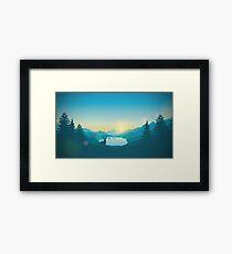 Firewatch Art Design 4K Framed Print