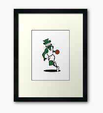 Basketball funny sports Framed Print