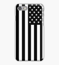 Black And White American Flag iPhone Case/Skin