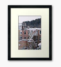 Hanging Ice Framed Print