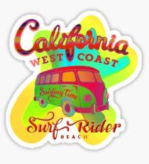 California Surf Rider by Boggie Burn Sticker