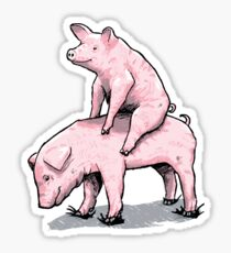 Piggy Back Ride Sticker
