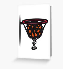Basketball basket sports funny Greeting Card