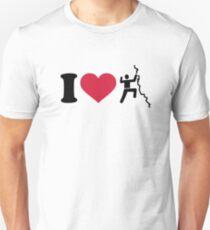 I love climbing Unisex T-Shirt