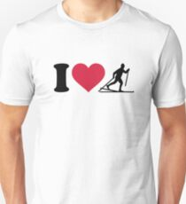 I love Cross-country skiing Unisex T-Shirt