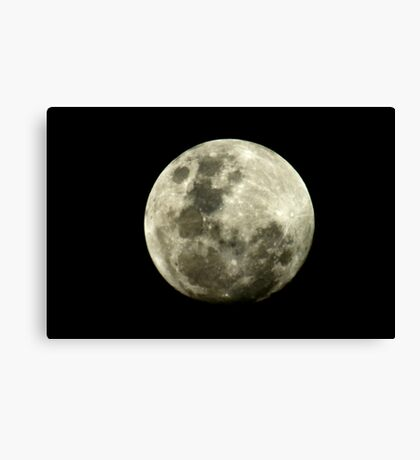 Full moon (full frame, No cropping!) Canvas Print