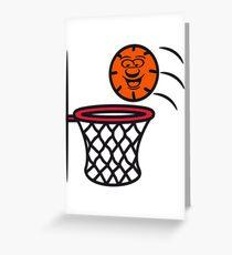 Basketball basket pleasure sports Greeting Card
