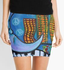 Peaceful City Mini Skirt