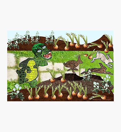 Greeny chases rabbits of his carrot patch ( 803 Views) Photographic Print