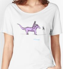 Dragon Puzzling over a Dragonfly Women's Relaxed Fit T-Shirt