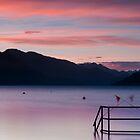 boat dock Harrison  by Jean Poulton