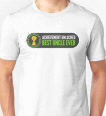 Achievement Unlocked Best Uncle Ever Trophy T-Shirt Unisex T-Shirt