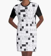 crossword about life and career Graphic T-Shirt Dress