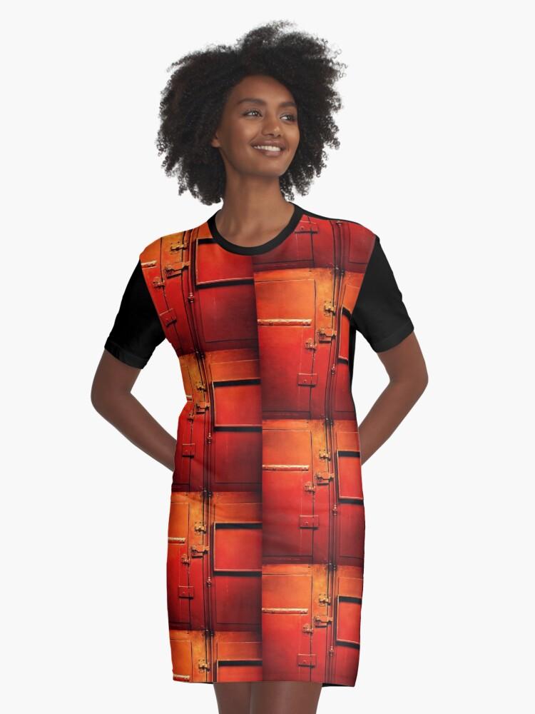 red door Graphic T-Shirt Dress Front
