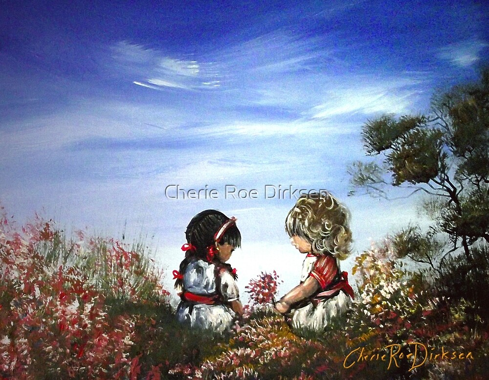 Playing in the Garden by Cherie Roe Dirksen
