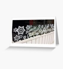 Home for Christmas Shop Window Greeting Card