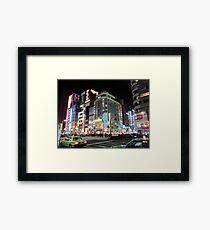 Tokyo at night  Framed Print