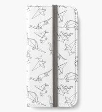 Origami-Dinosaurier iPhone Flip-Case/Hülle/Klebefolie