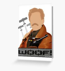 Lord Flashheart 'Woof' design Greeting Card