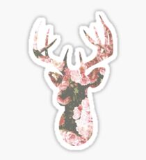 Rose gold Deer Tumblr Sticker