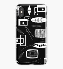 Black and White Mid-century iPhone Case/Skin