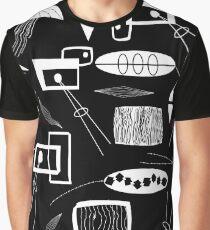 Black and White Mid-century Graphic T-Shirt