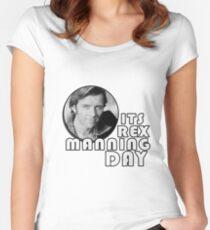 Rex Manning Tag Tailliertes Rundhals-Shirt