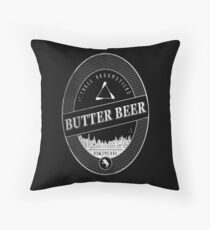 BUTTERBEER - Hogsmede Brew Black Label  Throw Pillow