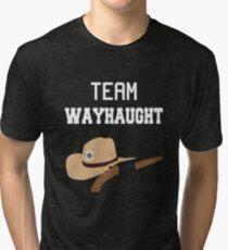 Team WayHaught [White] Tri-blend T-Shirt