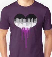 Asexual Pride Drip Heart T-Shirt