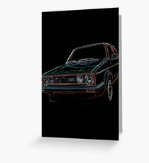 golf gti, gti colored Greeting Card