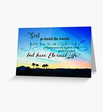 """God so Loved the World"" Greeting Card"