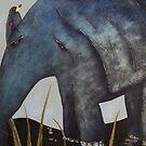 Bird on Baby Elephant by Tom Norton