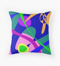 Philosophical Man Digital Abstract Pattern Throw Pillow