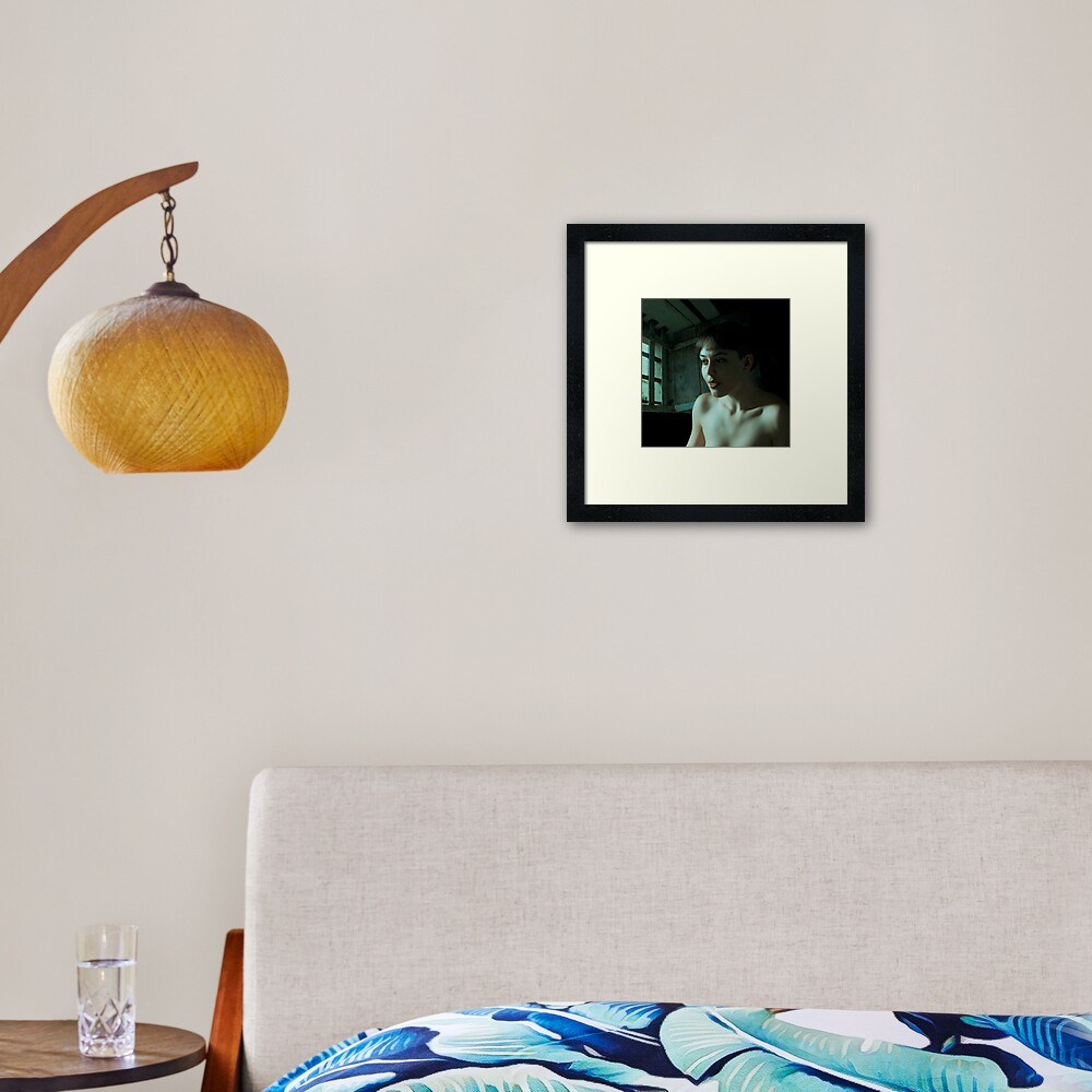 On a moonlit night Framed Art Print