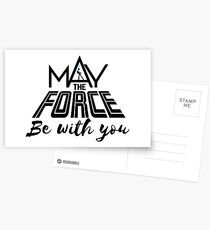 Star Wars - May the force be with you Postcards