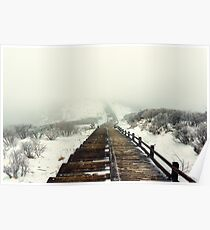 Snow covered trail Poster